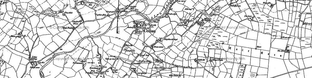 Old map of Pentrefelin in 1904