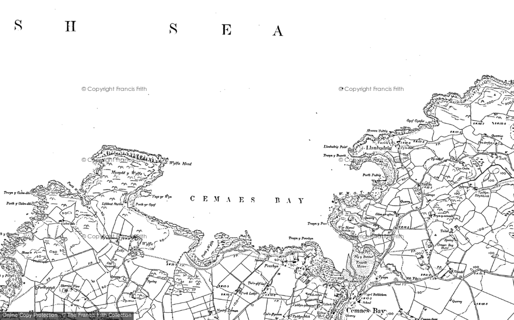 Old Map of Historic Map covering Llanbadrig in 1899
