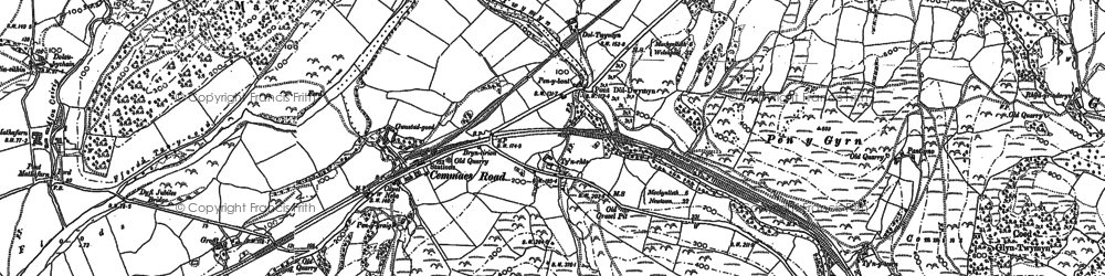 Old map of Cemmaes Road in 1886