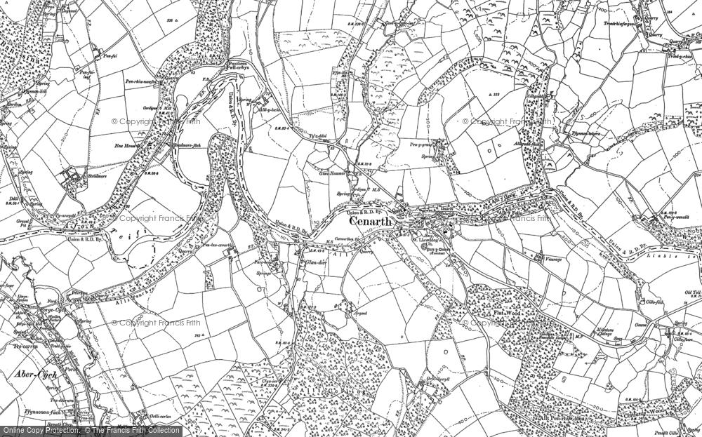 Old Map of Cenarth, 1887 - 1904 in 1887