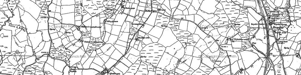 Old map of Cae Gors in 1888