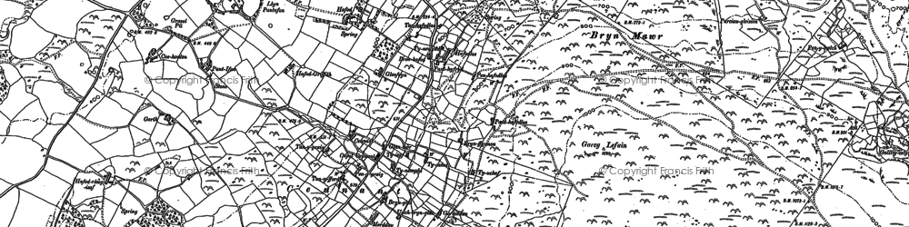 Old map of Y Garth in 1888