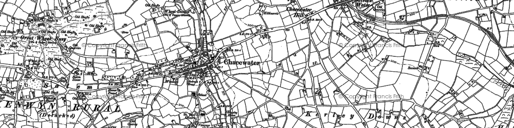Old map of Chacewater in 1879
