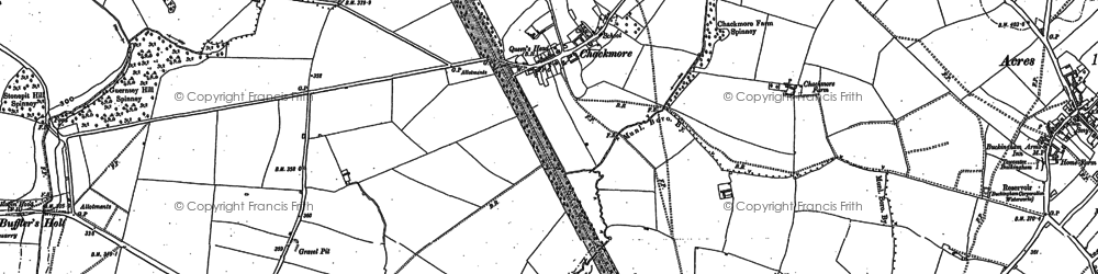Old map of Chackmore in 1899