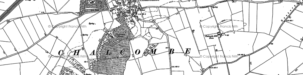 Old map of Chacombe in 1899