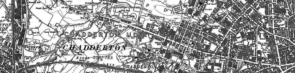 Old map of White Gate in 1891