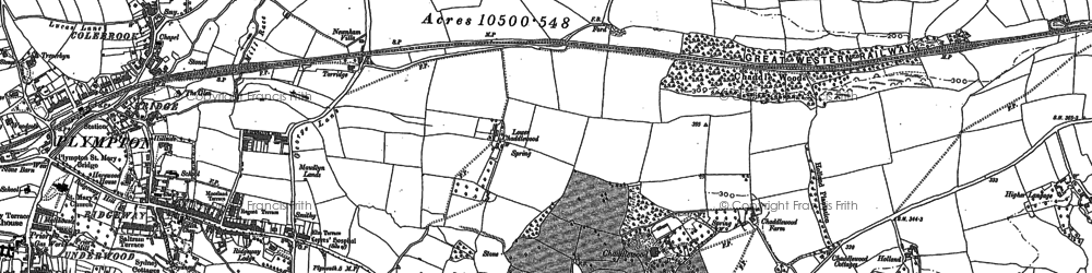 Old map of Langage in 1905