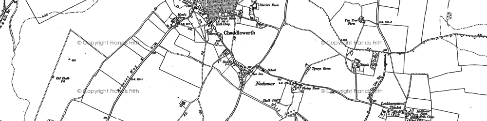 Old map of Chaddleworth in 1898