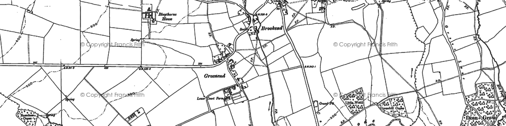 Old map of Brookend in 1898