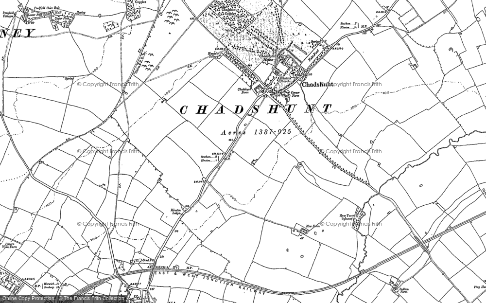 Old Map of Chadshunt, 1885 - 1904 in 1885
