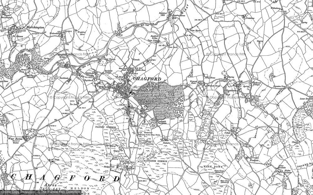 Old Map of Historic Map covering Yellam in 1884