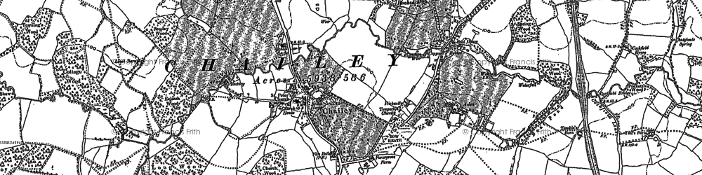 Old map of Wilding Wood in 1896