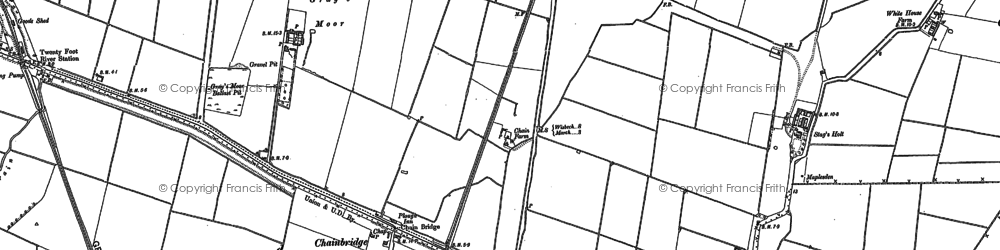 Old map of Chainbridge in 1886