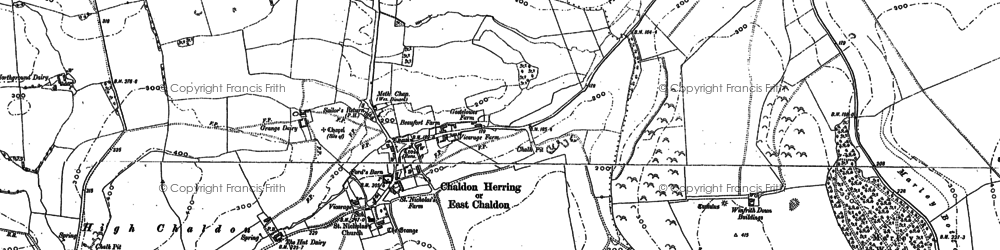 Old map of Winfrith Hill in 1886