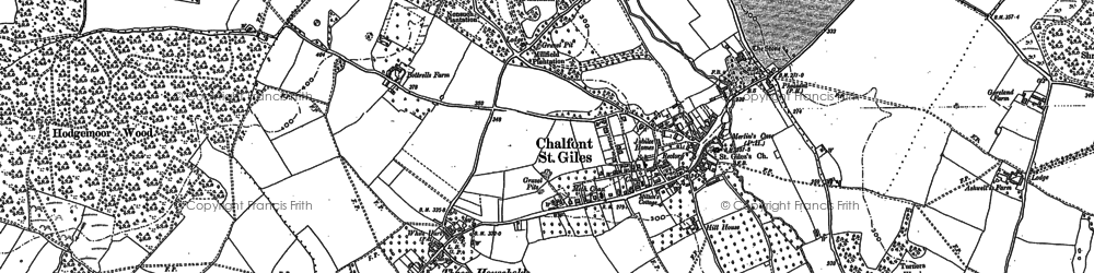 Old map of Bottrells Close in 1923