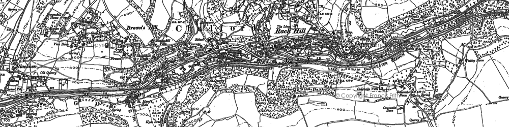 Old map of Chalford in 1882