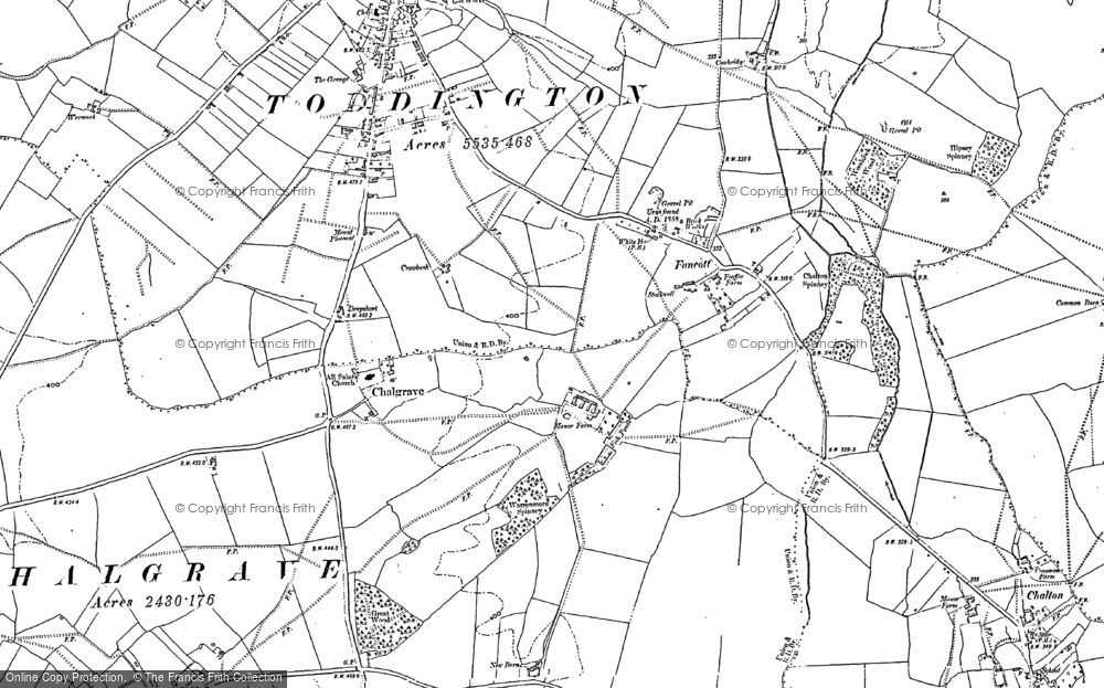 Old Map of Chalgrave, 1881 in 1881