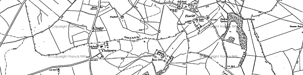 Old map of Chalgrave in 1881
