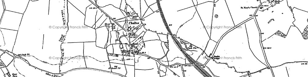 Old map of Chalton in 1881