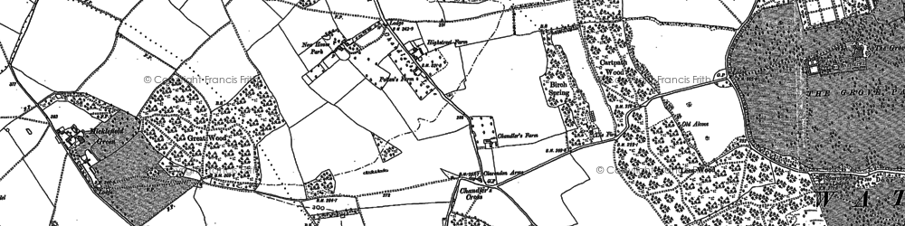 Old map of Chandler's Cross in 1896