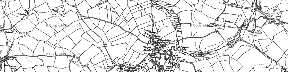Old map of Chapel Amble in 1880