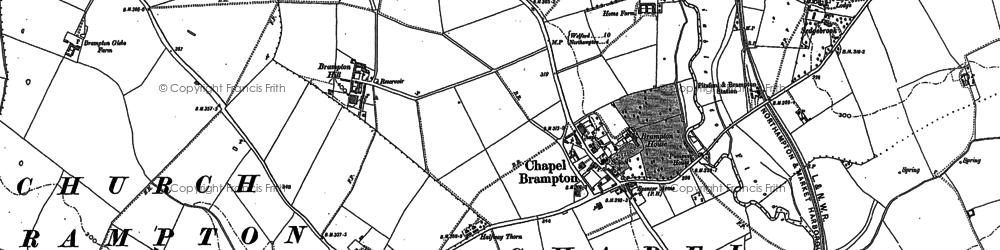 Old map of Chapel Brampton in 1884