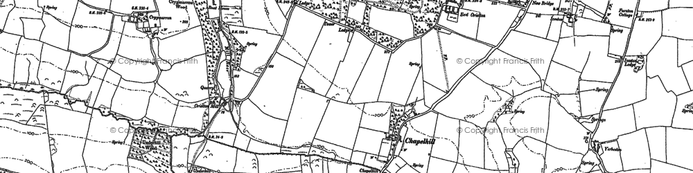 Old map of Yerbeston in 1906