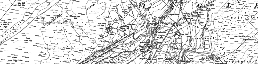Old map of Winterscales Beck in 1907