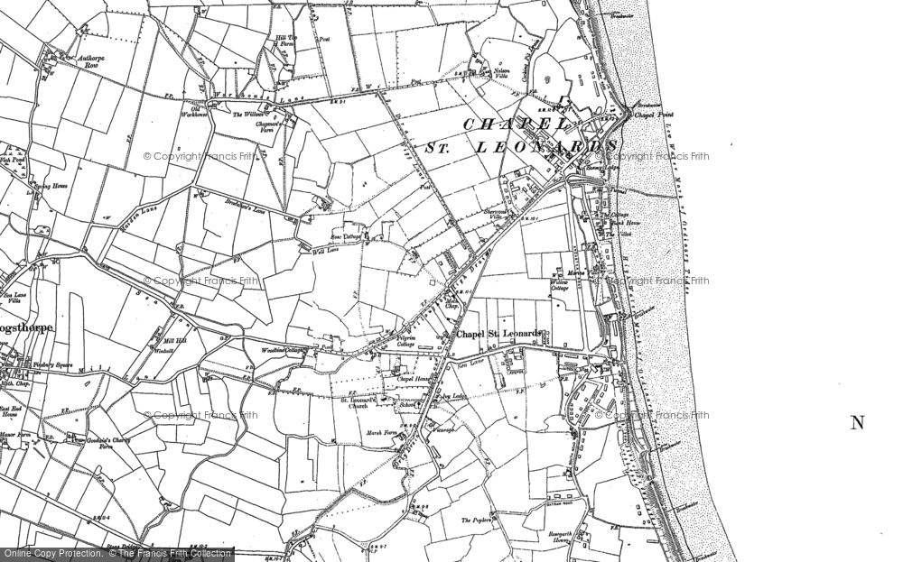 Old Map of Chapel St Leonards, 1888 - 1905 in 1888