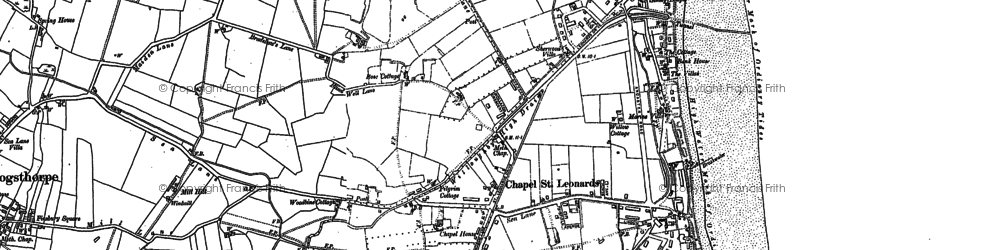 Old map of Chapel St Leonards in 1888