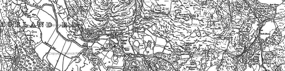 Old map of Lang How in 1897
