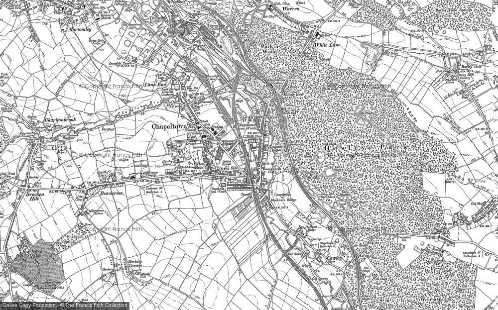 Old Map of Chapeltown, 1891 in 1891
