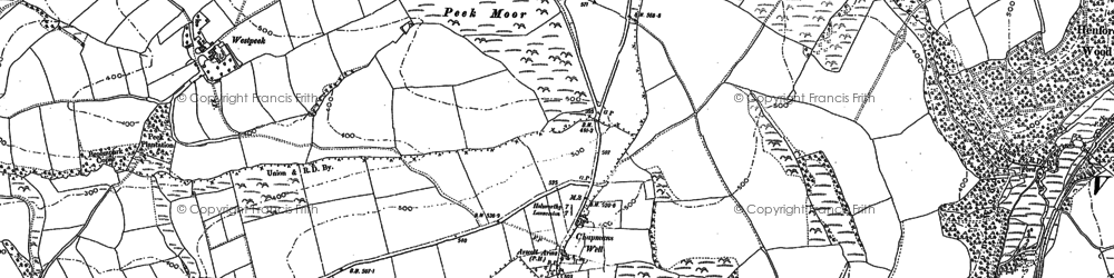 Old map of West Peeke in 1883
