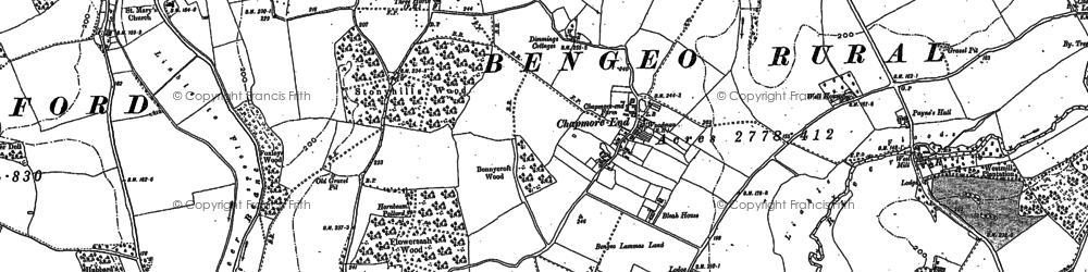 Old map of Chapmore End in 1897