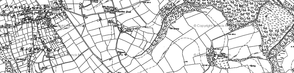 Old map of Charaton Cross in 1882