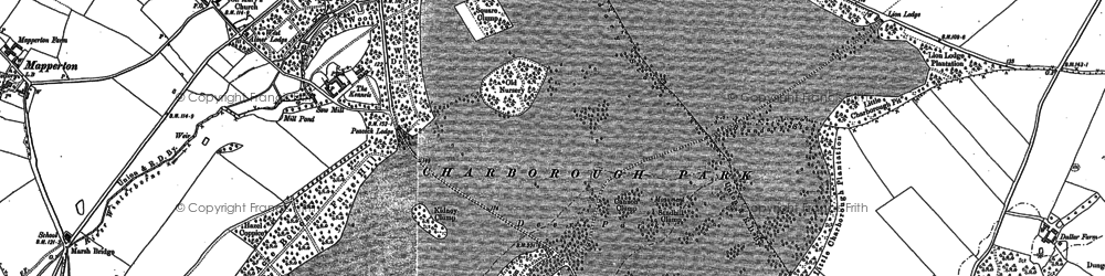 Old map of Windmill Barrow in 1887