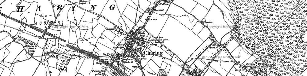 Old map of Charing in 1896