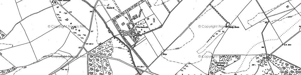 Old map of Whatcombe Down in 1887