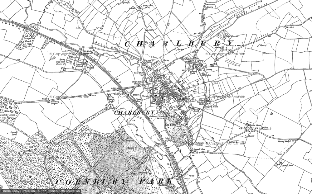 Old Map of Historic Map covering Lee's Rest in 1898