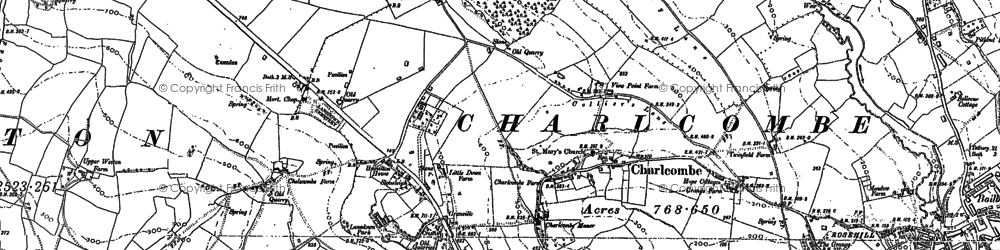 Old map of Charlcombe in 1902