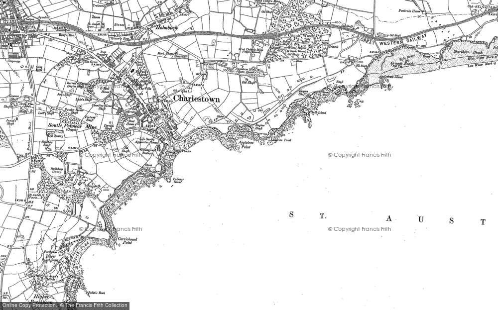 Old Map of Charlestown, 1881 - 1906 in 1881
