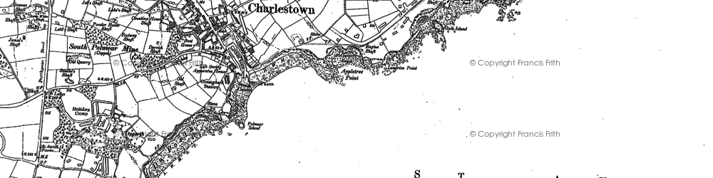 Old map of Charlestown in 1881