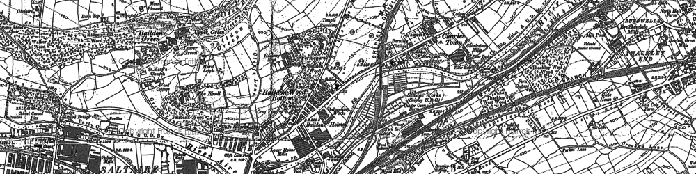 Old map of Tong Park in 1891
