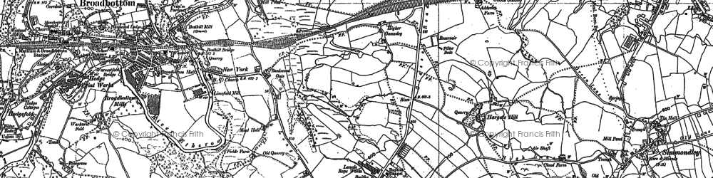 Old map of Lee Head in 1897