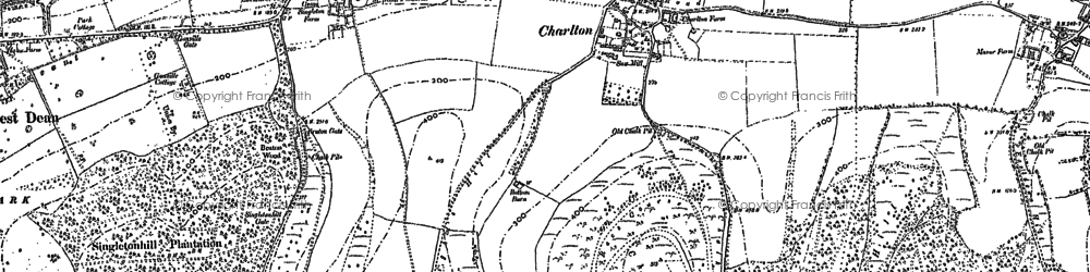 Old map of Charlton in 1896