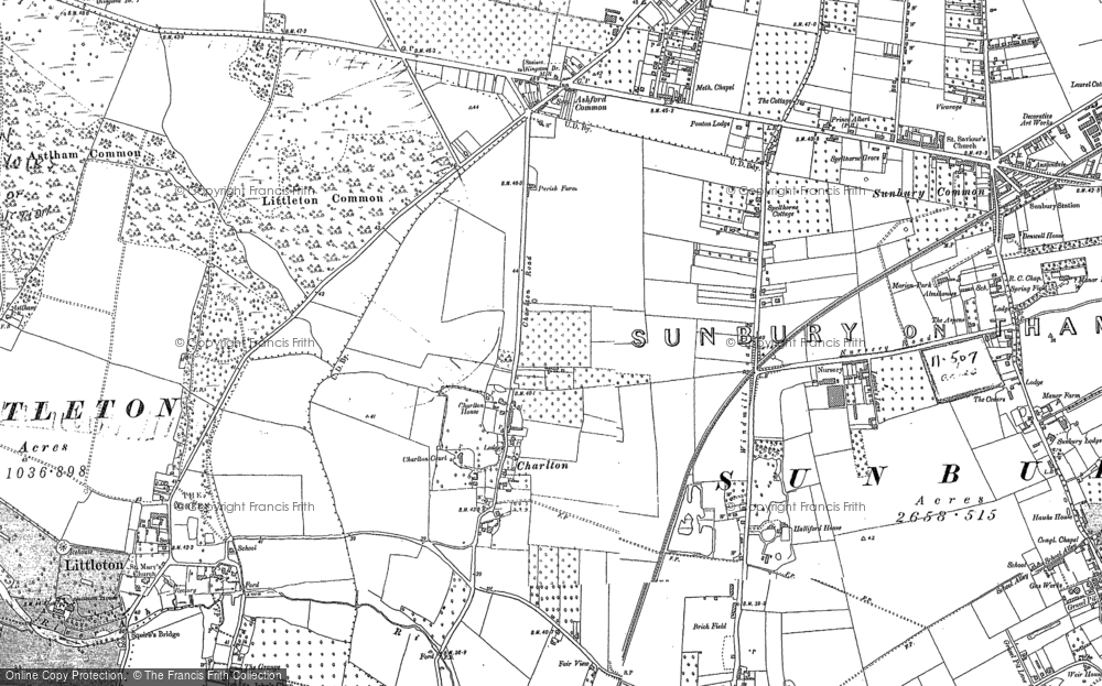Old Maps of Sunbury Common Francis Frith