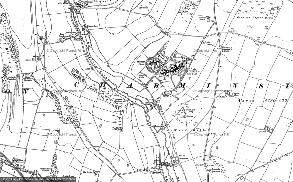Old Map of Historic Map covering Leap Gate in 1886