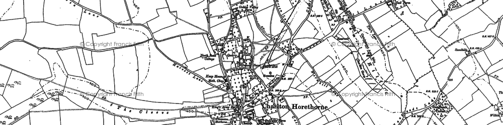 Old map of Windmill Hill in 1885