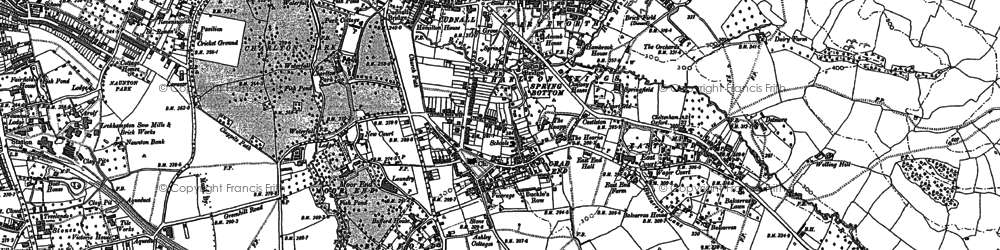 Old map of Charlton Kings in 1883