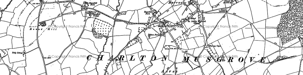 Old map of Barrow in 1885